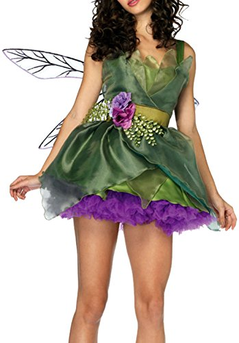 EUDORA Halloween Costume,Avatar Flower Fairy,Party Carnival Cosplay Dress Set