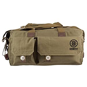 Boston Bruins Premium Military Style Large Weekend Travel Bag by Little Earth