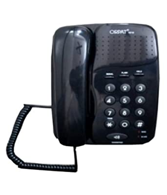 Orpat 1010 Corded Landline Phone (Black)