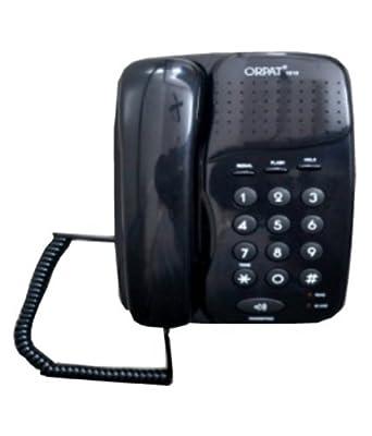 Orpat 1010 Corded Landline Phone (Black)