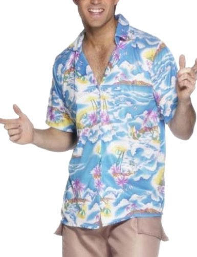 Smiffy's 25259M - Hawaii-Hemd, blau
