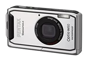 Pentax Optio W60 Waterproof 10MP Digital Camera with 5x Wide Angle Optical Zoom (Silver)