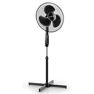 """Klarstein Black Blizzard Standventilator Ventilator für Garten/Heim/Büro geräuscharm (Großes 40,6cm (16"""") Rotorblatt, 3 Geschwindigkeiten, Schwenkfunktion/Oszillation, 50W) schwarz"""