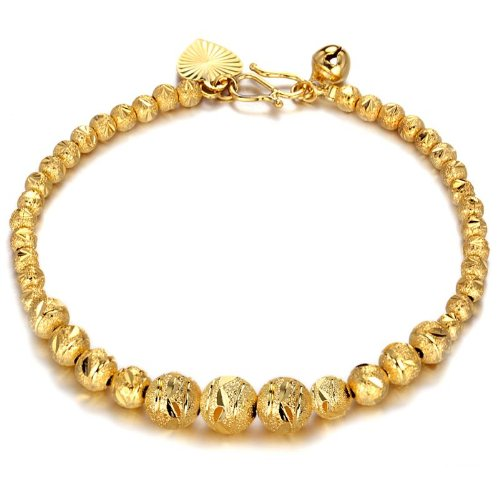 OPK South Korea Style 18K Gold Plated Women's Bracelet Ball Wedding Bangle Best Gift!