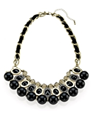 Per Una Diamanté Oval Statement Necklace