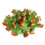 2m Artificial Flower Rose Leaf Vine Ivy Garland (Sunset red)