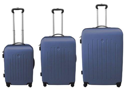 3tlg. Hartschalen Kofferset Blau