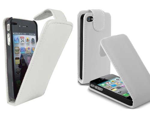 Apple New Iphone5 Premium Pu Leather Magnetic Flip Protective Case White