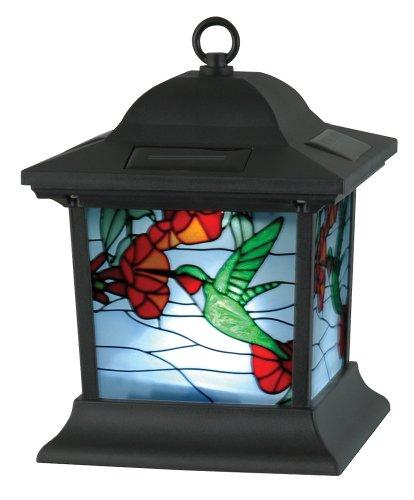 Moonrays 91613 Solar Powered Stained Glass Hummingbird Lighting Fixture