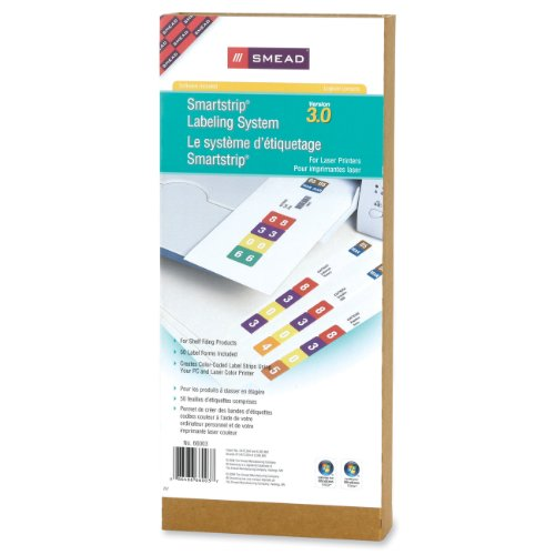 smead label templates - smead smartstrip labeling system refill pack end tab