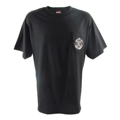 Harley-Davidson Overseas Tour Crossed Up Pocket T-Shirt Mens, X-Large, Black