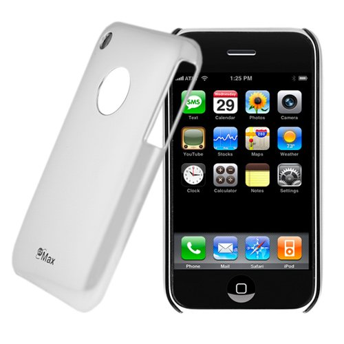 GTMax Chrome Silver Durable Slim Fit Back Cover Case for Apple Iphone 3Gs 3G S, 3G Smarpthone