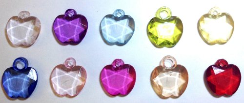 10 Dazzling Apple Loom Charms for Rainbow Rubber Band Loom Bracelets - 1