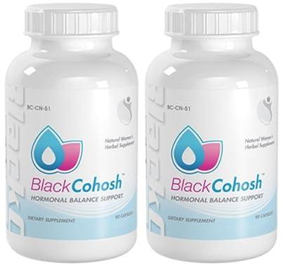 Black Cohosh Natural Hormonal Balance Support Black Cohosh Extract 700mg 180 Capsules 2 Bottles