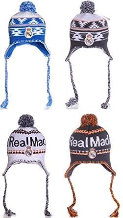 Amazon.com: Real Madrid Gorro o Gorra Pom Pom Peruvian Beanie Knit Hat