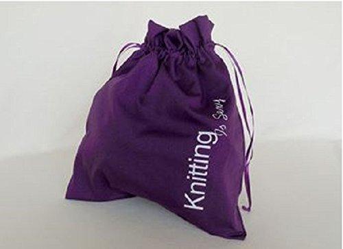 Della Q Edict Project Bags (#118-1) Knitting is Sexy-Purple by Della Q