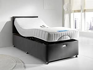 Francessca Relaxor Electric Adjustable Pod Bed with Deluxe Memory Foam Mattress