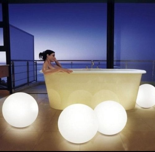 9.5-inch Floating LED Pool Glow Light Orb Ball Outdoor Living Garden Light Decor Waterproof Color Changing Ball