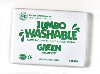 8 Pack CENTER ENTERPRISES INC. JUMBO STAMP PAD GREEN WASHABLE