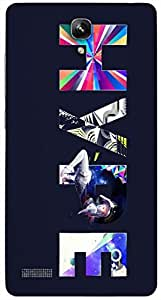 Timpax protective Armor Hard Bumper Back Case Cover. Multicolor printed on 3 Dimensional case with latest & finest graphic design art. Compatible with Xiaomi Red Mi Note Design No : TDZ-28615