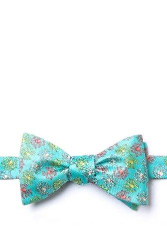 Aqua Silk Bow Tie | Octopodes Self Tie Bow Tie