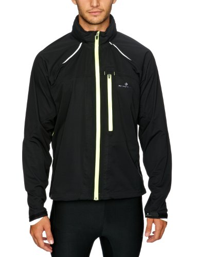 Ronhill Men's Vizion Storm Jacket - Black/Flou Yellow, Large