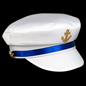 chinkyboo SEXY LADY WOMEN SEA MARINE SAILOR CAPTAIN FANCY DRESS COSTUME HAT CAP GIRL NAVY COSTUME ACCESSORIES