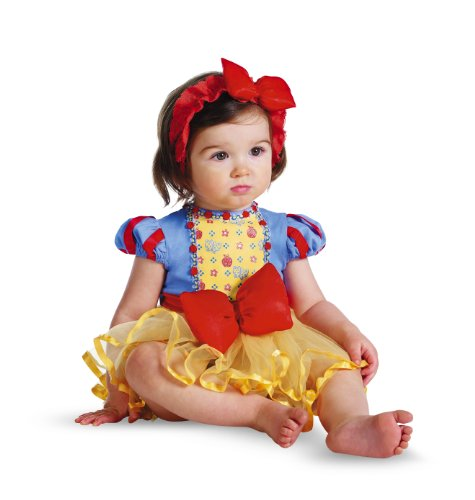 Disguise Costumes Disney Princess Snow White Prestige Infant, Yellow/Blue/Red, 6-12 Months (Snow White Costume For Infant)