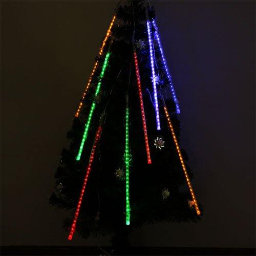 50Cm 8 Tube 240 Leds Rgby Shower Meteor Rain Light Tube For Wedding Party Christmas Xmas Decoration 10W Lights Waterproof By Bestumart