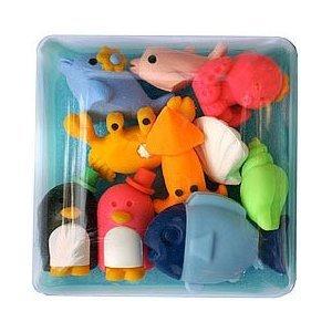 Amazon.com: Marine Animal Erasers 7Pc: Toys & Games |Sea Creature Erasers Toys