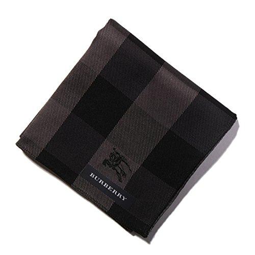 バーバリー BURBERRY ハンカチギフト クリスマスプレゼント 薄手 メンズ ブロックチェック グレー 33944