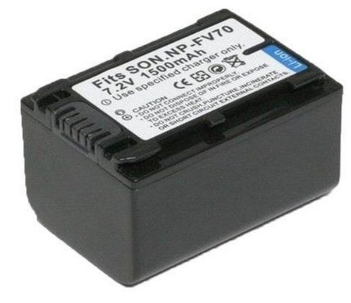 Rechargeable Lithium-Ion Battery Pack For Sony Np-Fv30, Np-Fv50, Np-Fv70, Np-Fv100 Infolithium V Series 1500Mah
