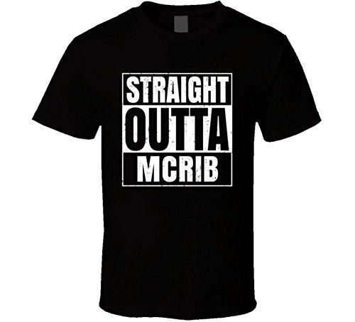 Straight Outta Mcrib Funny Favorite Snack Food Compton Parody T Shirt XL Black