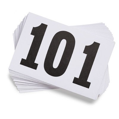 Gill Athletics Competitor's Number Paper Tags (Set of 100), 001-100 (Contestant Numbers compare prices)