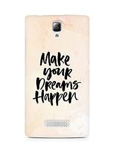 AMEZ make your dreams happen Back Cover For Lenovo A2010