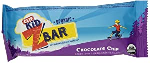 Clif Kid Organic ZBar, Organic Chocolate Chip, 18 Count