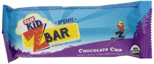 Clif Kid Zbar 191805 Organic Energy Bar, Chocolate Chip 1.27 oz (18 Bars)