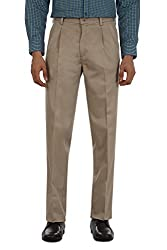 Allen Solly Mens Casual Trousers (8907088629197_AMTP1G01059_36W x36L_Golden Khaki)