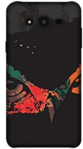 The Racoon Grip printed designer hard back mobile phone case cover for Samsung Galaxy J7. (Owly Owly)