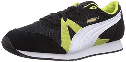 Puma TF-Racer Mesh, Low-Top Sneaker unisex adulto, Nero (Schwarz (black-white-sharp green 03)), 42