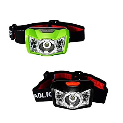 SUBOOS Ultra Bright LED Headlamp Flashlight - Perfect for Jogging, Cycling, Camping, Fishing, Power Outage, and Emergency