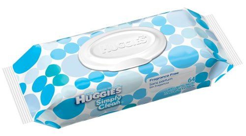 Huggies Simply Clean Baby Wipes, 64 Count (036000318449)