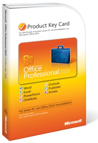 Microsoft Office 2010 Professional Product Key Card