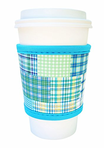 Review Of Joe Jacket Neoprene Drink Insulator Sleeve Cup Grip, Blue Plaid