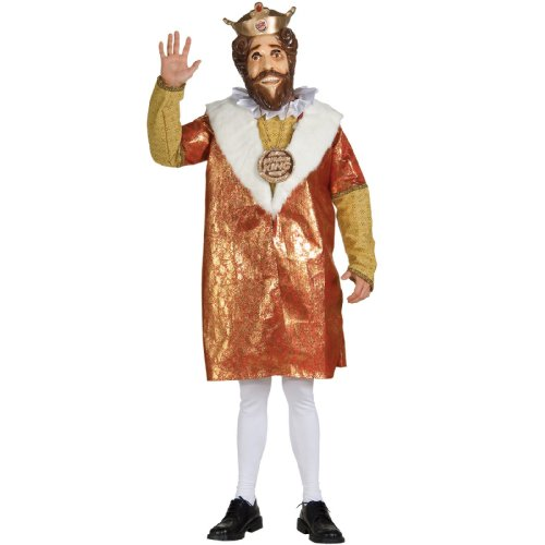 Lets Party By Rubies Costumes Burger King Deluxe Adult Costume / Red - Size Standard