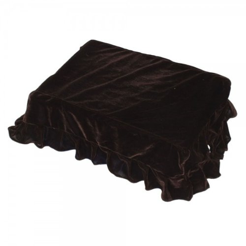 Usongs Single Piano Stool Chair Case Cover Coffee Brown