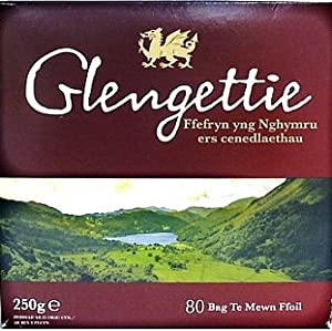 Glengettie Foil Tea Bags (80 Count Box, 250g)