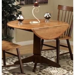 Buy Low Price APA Marketing Camden Round Dining Table with Drop Leaf – Entree by APA Marketing – CAM-4242 (CAM-4242)
