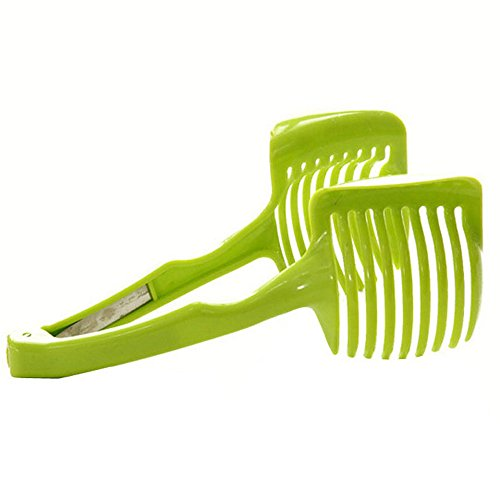 1Pc Green Color Hand-held Lemon Onion Tomato Fruit Slicer Chopper Cutter Food Clips by uGen! Kitchen Cooking Tool Supplies Gadgets. Great Accessory for your Kitchen and Home! (Kitchen Accessories Food Chopper compare prices)