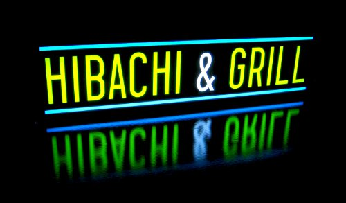 Hibachi And Grill Light Box Sign - Led/Neon Alternative